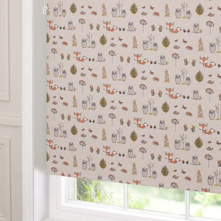 woodland fox blackout roller blind dunelm mill babies. Black Bedroom Furniture Sets. Home Design Ideas