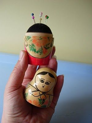 I'm a little bit obsessed with pin cushions and this is one of my favorites.