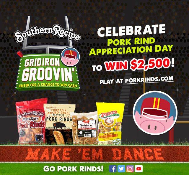 Have you played our Gridiron Groovin' game yet? It's your shot at $2,500 AND helps support Gridiron Greats Assistance Fund! Enter to #win NOW! . . . #Snacks #Protein #TravelSnacks #Recipes #Recipe #PorkRind #PorkRinds #Delicious #foodie #PorkRindAppreciationMonth #GridironGroovin #Touchdown #Contest #Win #Football #SuperBowl #BigGame