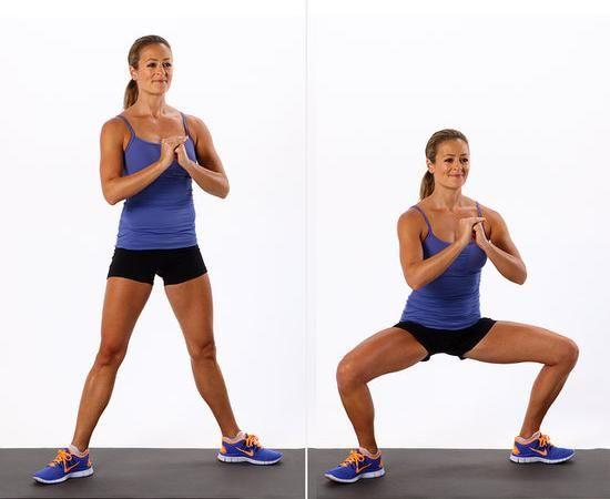 Calf slimming exercises Sumo squat
