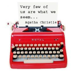 Agatha Christie Typewriter Pin - perfection!! Possible narrative writing prompt