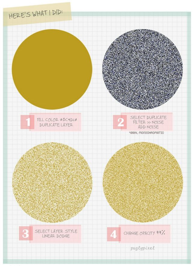 How to create glitter in #photoshop