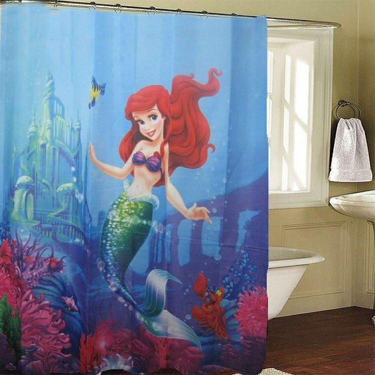 Sea Kitchen Curtains Amazon: Little Mermaid Shower Curtain I Ordered.