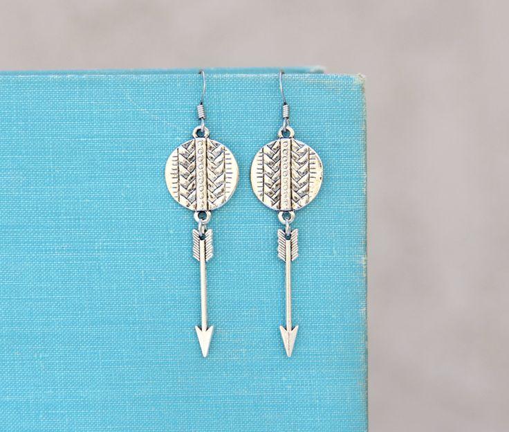 New to LovelyFleur on Etsy: On Target - Arrow Earrings Geometric Jewelry Tribal Jewelry Western Jewelry Country Girl Jewelry Teen Jewelry Gifts For Her Jewelry Under 25 (20.50 USD)