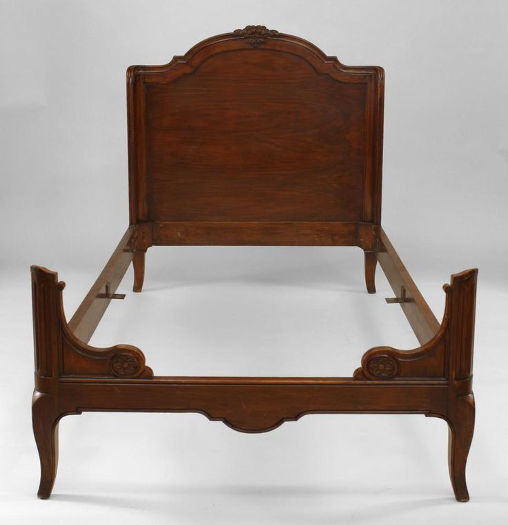 French Provincial bed single-size walnut