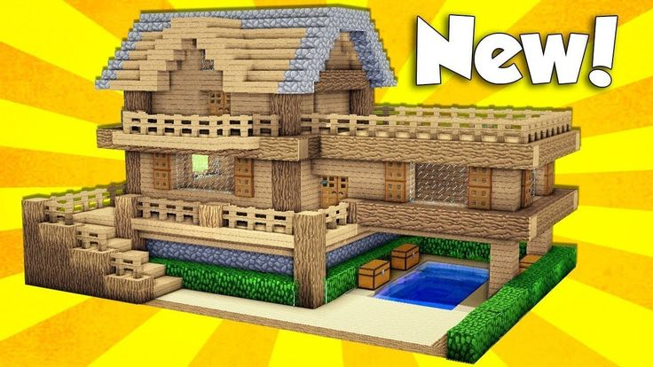 Minecraft: Wooden House Tutorial - How to Build a House in Minecraft / E... #educationaltoy