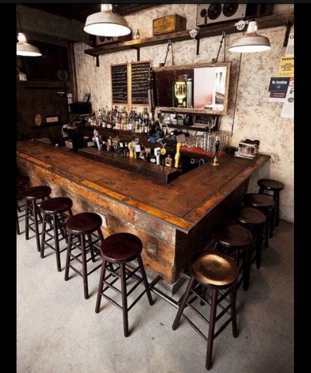 Love the bar counter top!