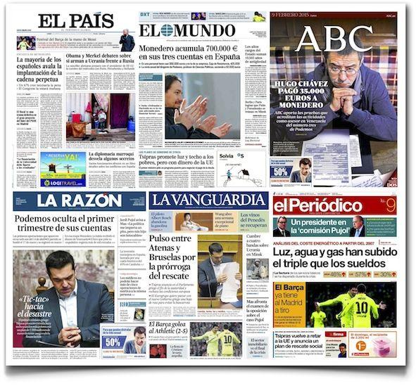 La lenta agonía de la prensa tradicional española