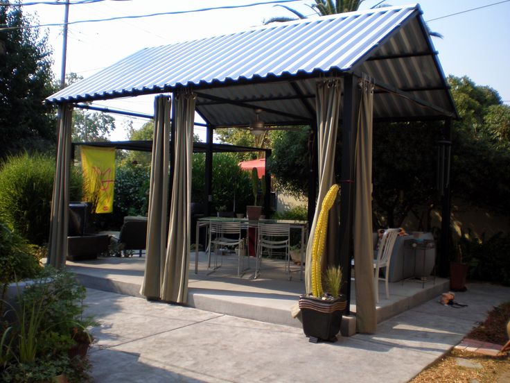 Steel Patio Cover In 2019 Metal Patio Covers Patio Roof