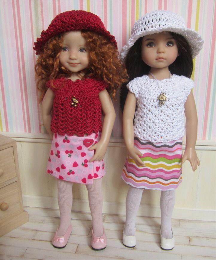 69- FICHE PATRON Althéa crochet et couture pour poupée Little Darling, Les Chéries de Corolle ou Paola Reina : Jeux, jouets par atelier-crochet