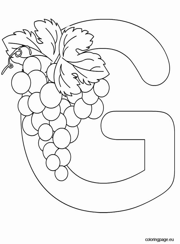 Letter G Coloring Sheets Best Of Alphabet Letter G Coloring