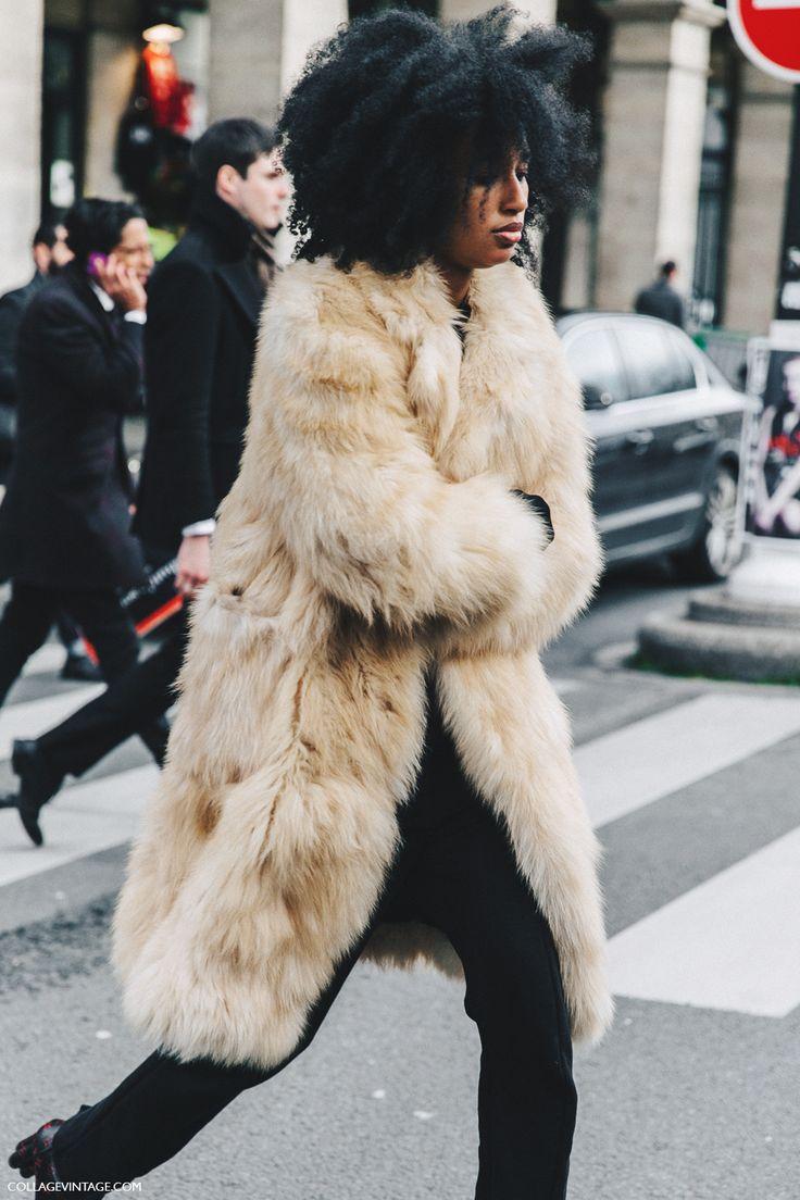 PFW-Paris_Fashion_Week_Fall_2016-Street_Style-Collage_Vintage-Julia_sarr_jamois-Fur_Coat-