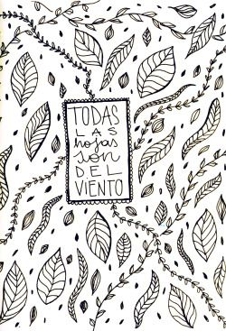 flor cornara / trabajos para el flaco I tinta sobre papel / abril 2015 #spinetta…