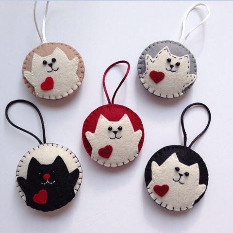 Cute cat ornaments. Kedicikler