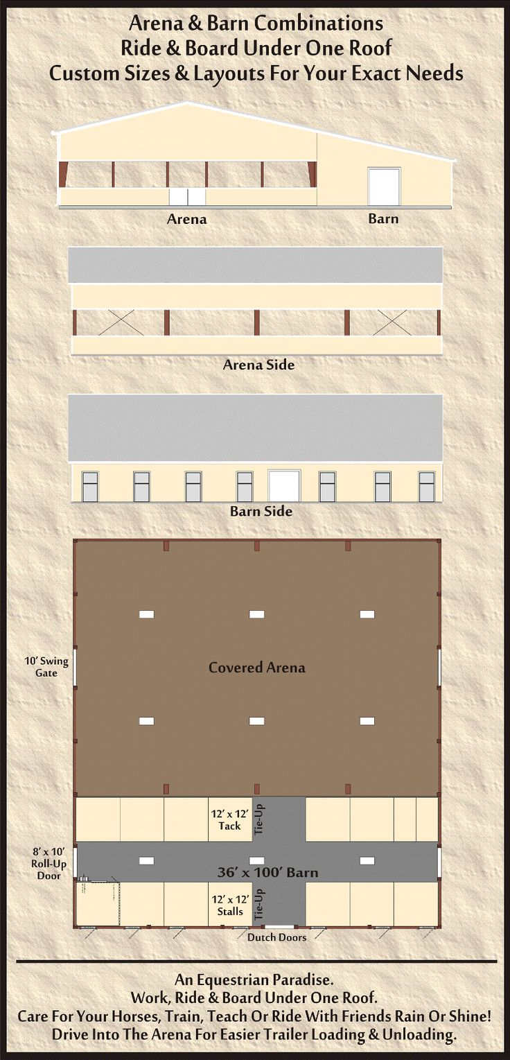 Horse Arena and Barn Combos Stalls. I'd also make run out pens for the horses that are connected to their stalls.