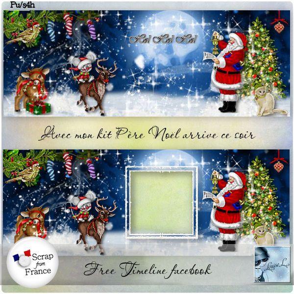 Pere Noel arrive ce soir Timeline facebook Free (PU) by Louise