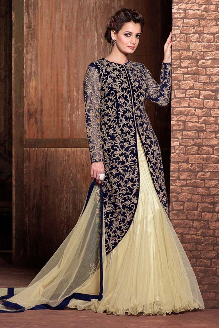 Designer Blue Santoon Lehenga Choli Blue net semi stictch lehenga choli. Embellished with . It is perfect for casual wear, festival wear, party wear and wedding wear.