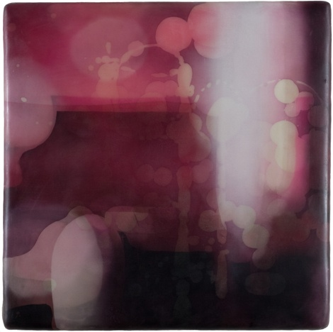 Eric Blum - watercolor, silk & beeswax on panel