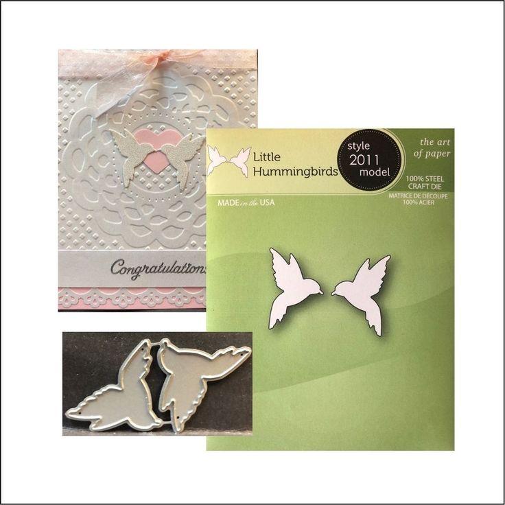 Little Hummingbirds die Poppystamps metal cutting dies