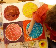galettes_des_rois_3.jpg tout simplement: 4 galettes craies  grasses, encre. Façon Warhol