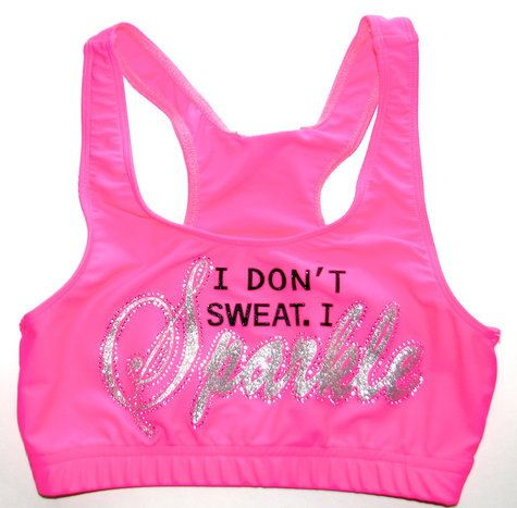 Neon Pink I Don't Sweat I Sparkle Cheer or Dance by Justcheerbows, $30.00