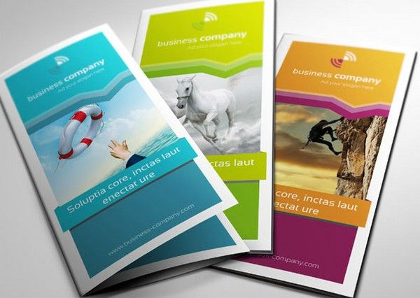 Color options for a brochure design - pick the one that would fit your company best.