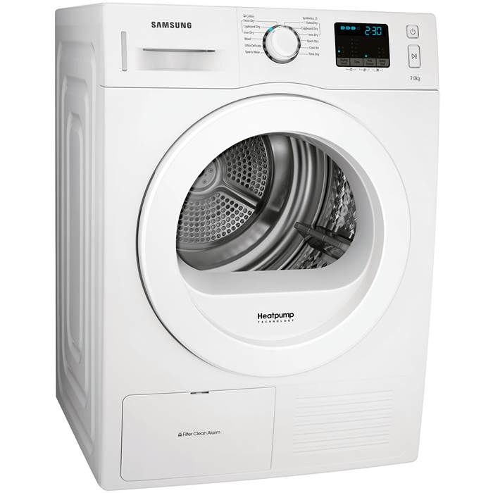 Samsung DV70F5EOHGW 7kg Heat Pump Tumble Dryer in White A++ Rated