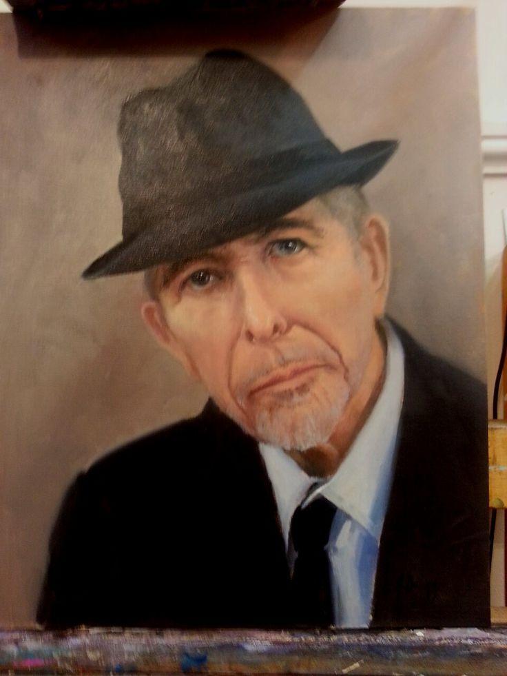 Leonard Cohen  oil on canvas