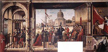 Vittore Carpaccio - arrivo degli ambasciatori inglesi
