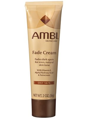 Ambi Fade Cream  WHAT IT IS:  A treatment cream for dark spots    WHAT IT DOES:  Gradually lightens hyperpigmentation    KEY INGREDIENTS:  2 percent hydroquinone (bleaches skin); alpha hydroxy acid (exfoliates and moisturizes); vitamin E (hydrates and soothes)    HOW IT FEELS/SMELLS/LOOKS:  The white cream has a slight chemical scent; it comes in two formulas: normal skin and oily skin.    WHY WE LIKE IT:  This Best of Beauty winner fades dark spots anywhere on your body with an effective…
