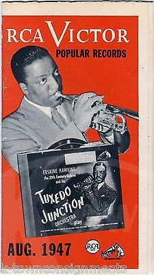 COUNT BASIE TOMMY DORSEY BERYL DAVIS VINTAGE RCA VICTOR ADVERTISING FLYER