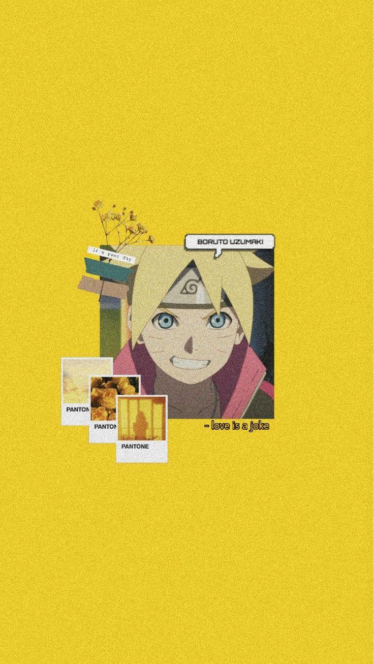 Naruto Aesthetic Wallpaper Yellow