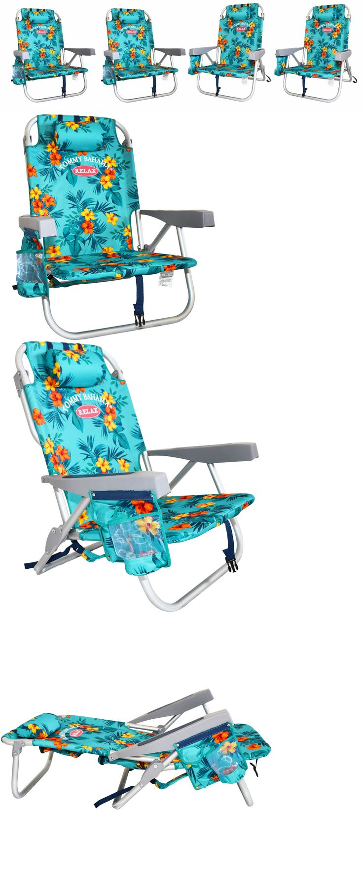 Jerry chair backpacking - Chairs 79682 4pc Green Floral Tommy Bahama Backpack Cooler Beach Chair Buy It