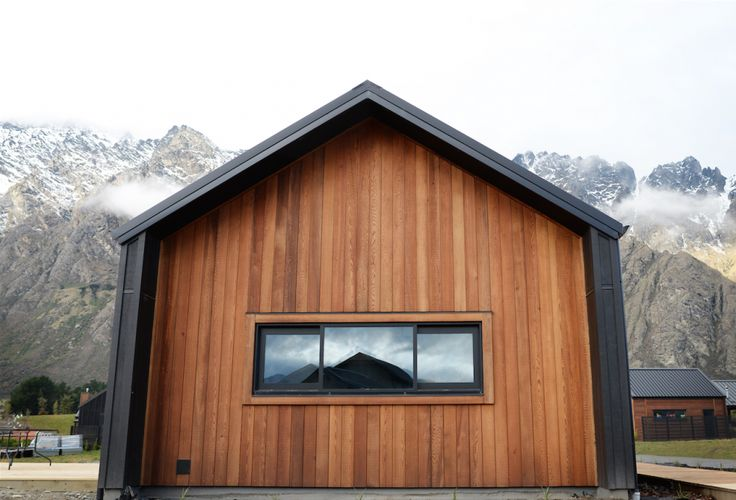 Cedar and Black Cladding Wing Walled Gables House Exterior Eco Home Home Building