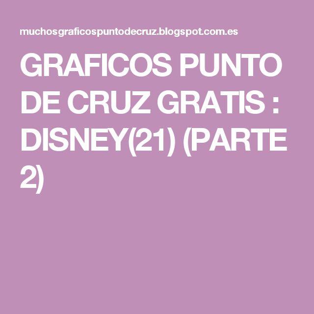 GRAFICOS PUNTO DE CRUZ GRATIS : DISNEY(21) (PARTE 2)