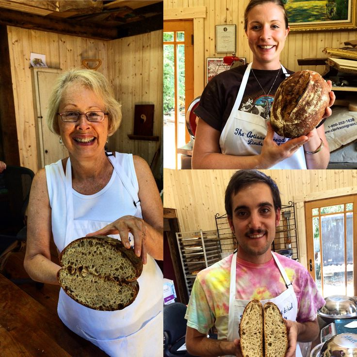 Our proud Artisan Bread Camp students with their hearth loaves. Such an amazing week to share with these folks.