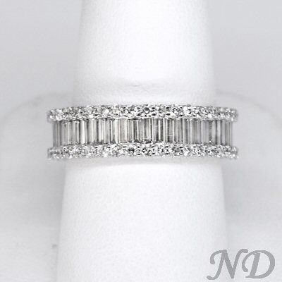 Wedding Bands :: 4.86 ct. Round & Baguette Diamond Eternity Band