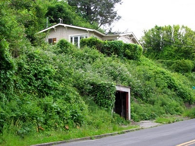 I love detached hillside garages craftsman style for Building a detached garage on a slope
