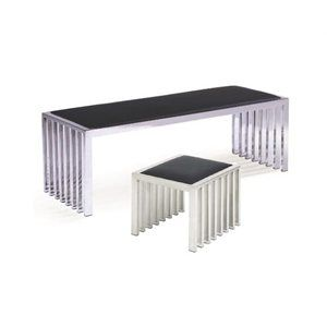 Stainless Steel Stools with leather top