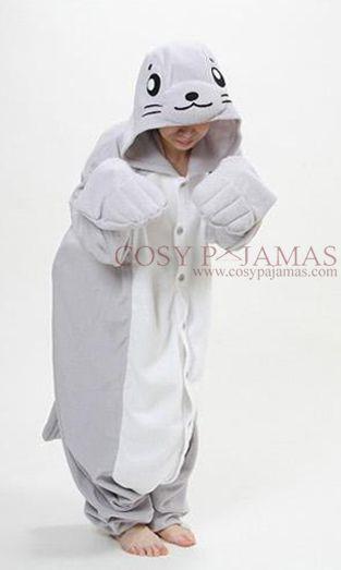 Animal Costume Seal Adult Onesie Kigurumi Pajamas