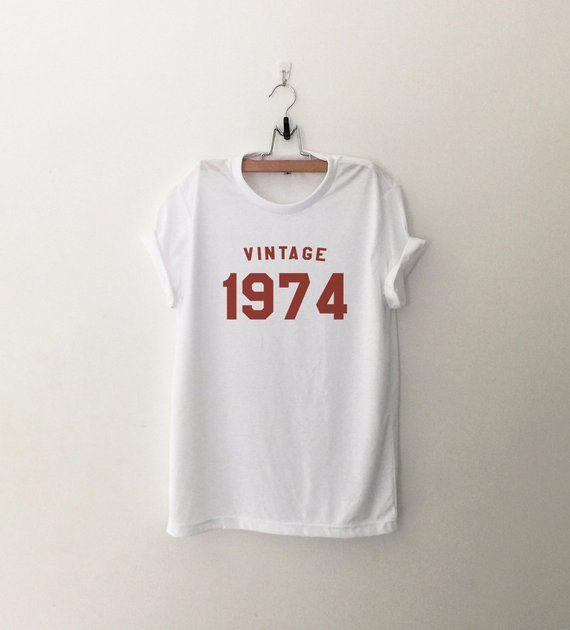 44th Birthday For Women Shirt Gift Her 1974 T Tshirt Graphic Tee Womens Tshirts W