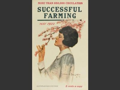 """Successful Farming, May 1922: """"May Blossoms"""" by Charles A. MacLellan graces the cover of this vintage Successful Farming issue. 