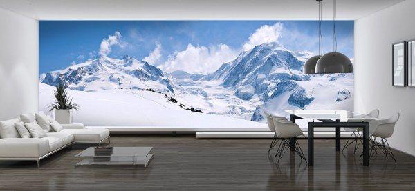 papier peint panoramique montagne