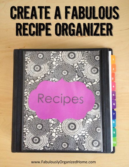 NEW RECIPE BINDER ~ creating one of these to send with Natalee to college :)