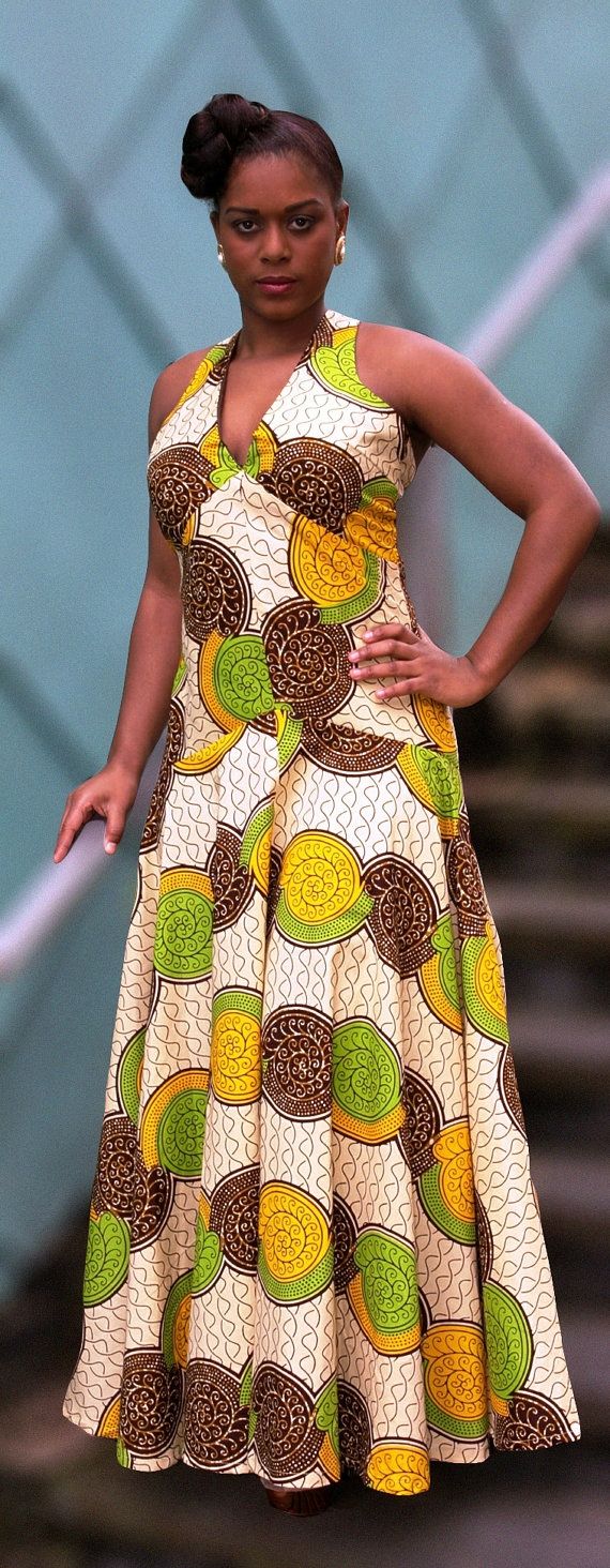 African print flow dress by Gitasportal2011 ~African Prints, African women dresses, African fashion styles, african clothing