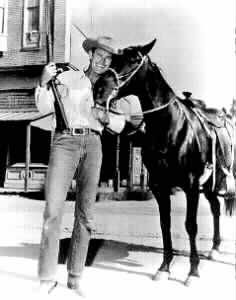 The Rifleman TV series  Razor is the horse ridden by actor  Chuck Conners as Lucas McCain