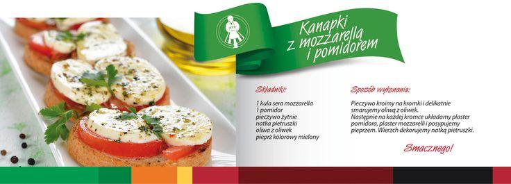 Kanapki z mozzarellą i pomidorem