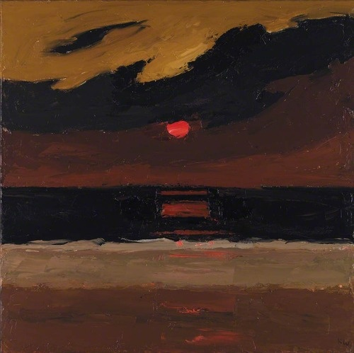 Kyffin Williams - Sunset, Anglesey (2004)