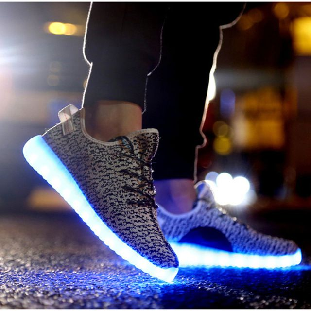 led men Jodan shoes luminous Men shoes unisex LED glow fashion light sneakers for adults Flashing