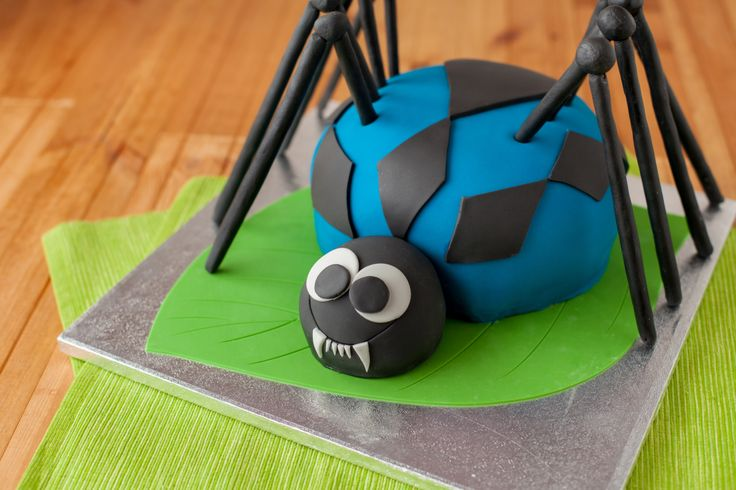 Learn how to make our Spider Cake. A fun and bright cake that kids will love, this is a Madeira sponge which is firm and is perfect for carving into shape as well as being covered with ready to roll icing.  For the cake: 450g/16oz unsalted butter, softened 450g/16oz caster sugar 450g/16oz self raising …